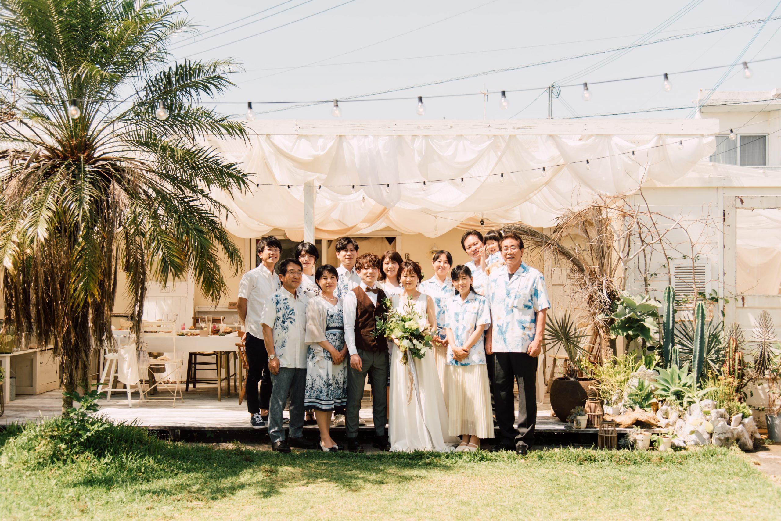 読谷村にあるルパサージュエメ沖縄でのアットホームなウェディングパーティー