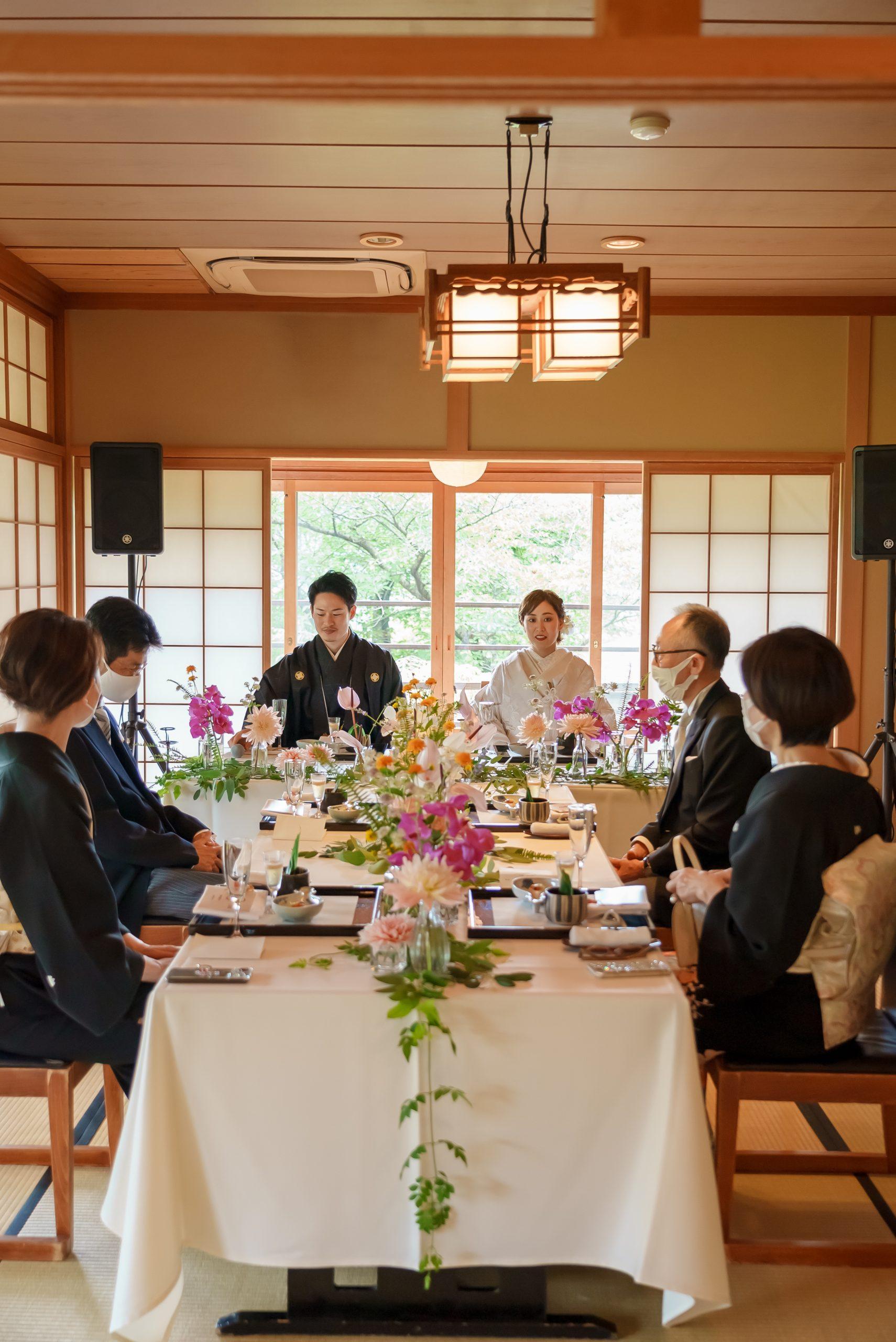 広島の和レストラン石亭での少人数ウェディング