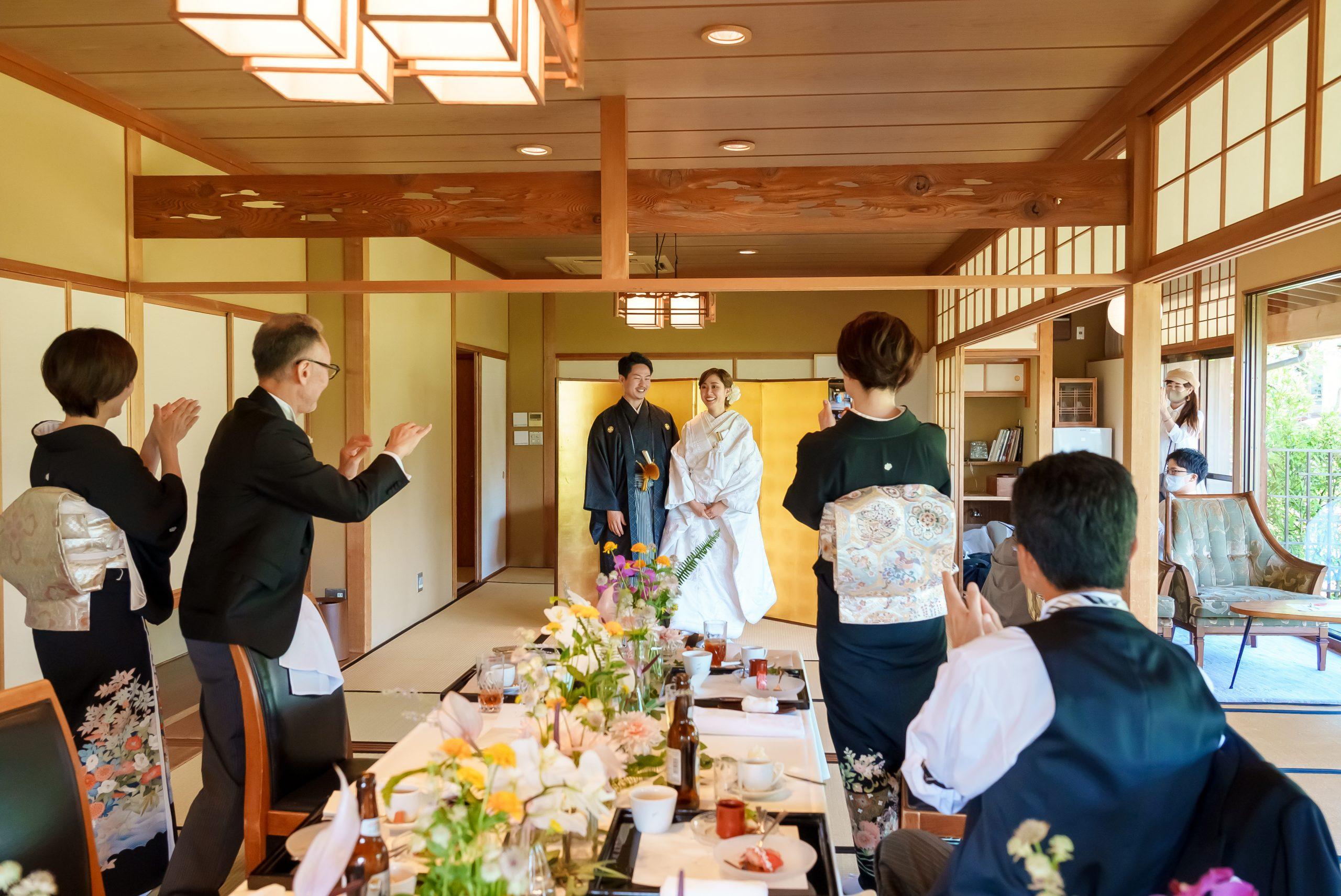 広島家族婚での和やかな様子